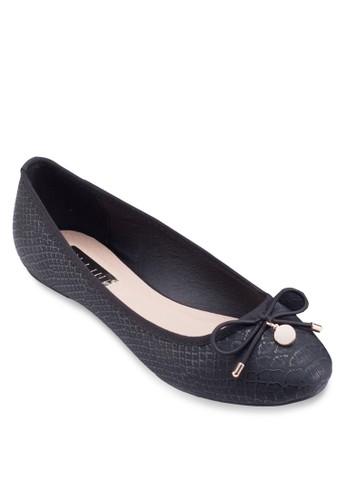 Elkie 尖沙咀 esprit蝴蝶結娃娃鞋, 女鞋, 鞋