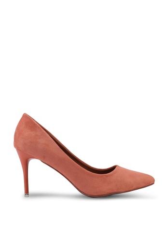 nose 橘色 Spray Heel Suede High Heel Pumps DE8F4SH8885472GS_1