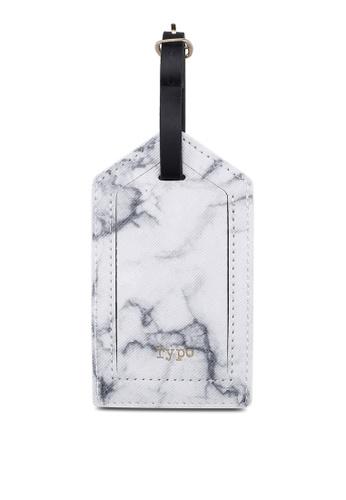 Typo white Luggage Tag 4972CAC974F760GS_1