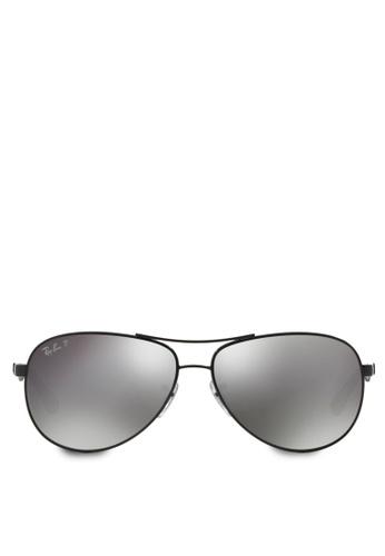Ray-Ban 黑色 RB8313 Polarized Sunglasses RA896GL80PXZMY_1