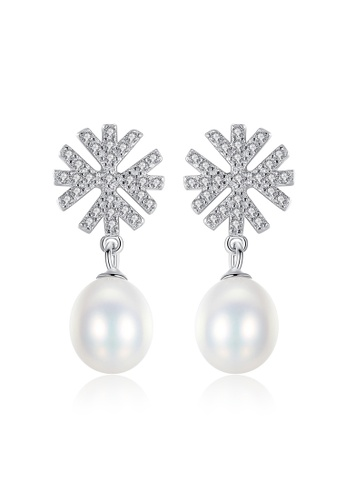 A.Excellence white Premium White Pearl Elegant Earring C65F9AC7268F71GS_1