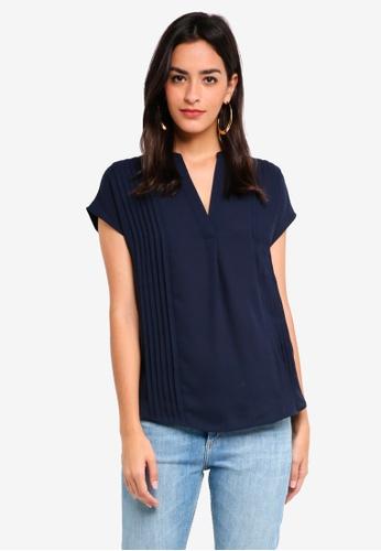834429d3d7ac3 Buy WAREHOUSE Pintuck Short Sleeve Blouse Online on ZALORA Singapore