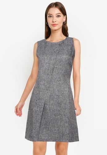 ZALORA WORK grey Metal Pin Detail Dress ED9CFAA581120DGS_1