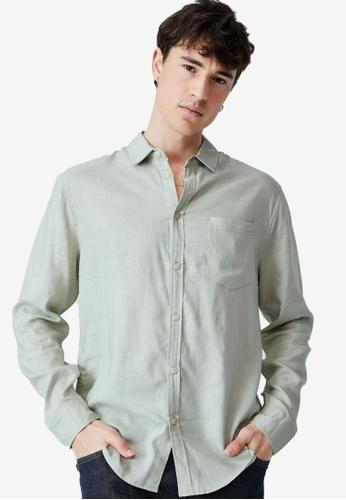 Cotton On green Ashby Long Sleeve Shirt 29ACAAA2C70310GS_1