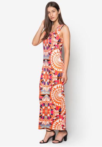 esprit 台灣官網波西米亞風背心連身長裙, 服飾, 夏日洋裝