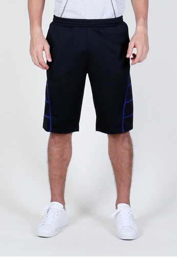 AMNIG black and blue Men Energy Training Shorts (Black/Blue) AM133SE53ZOOMY_1