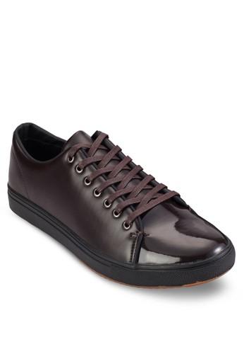漆皮繫帶低esprit sg筒休閒鞋, 鞋, 休閒鞋