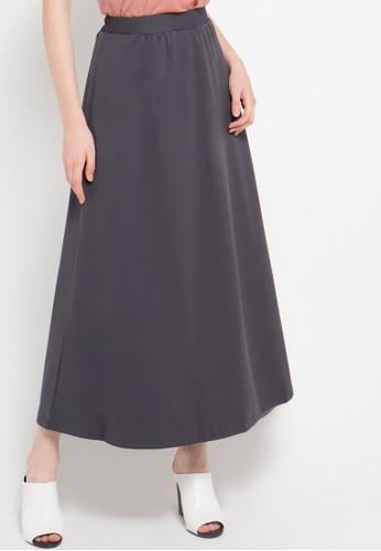 Cressida Ladies grey A Line Maxi Skirt CR653AA07NOMID_1