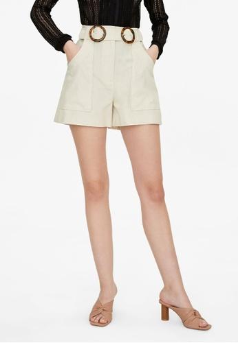 Pomelo multi Double Buckle Shorts - Cream 2212CAA20B6855GS_1
