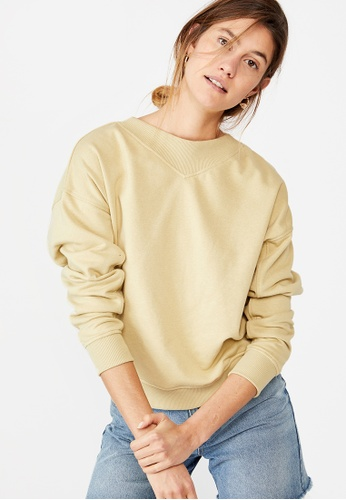 Cotton On yellow Billie Mock Neck Pullover 350A4AA1DA1C26GS_1