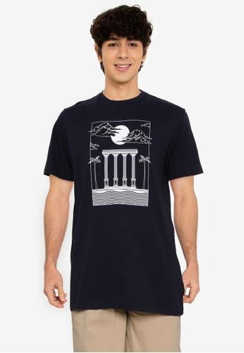 Springfield navy Greek T-Shirt 41E5EAA4349126GS_1