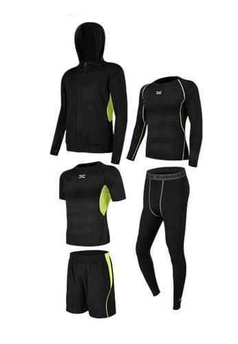 Sunnydaysweety green Sweat-Wick Tops, Tights, Shorts and Jacket Set  A081025GR 7DB36AA17EB649GS_1