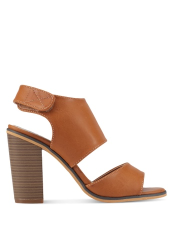 addicts anonymous brown Anne Leather-Like Summer Heels AD479SH0SVKKMY_1