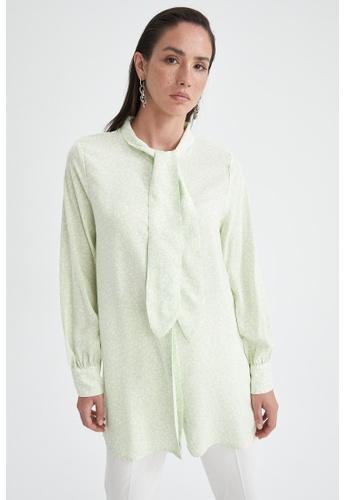 DeFacto green Long Sleeve Viscose Tunic 7C3E6AA0CCD7B9GS_1