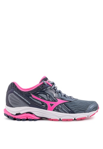 Mizuno black and pink Wave Inspire 14 Running Shoes B1C63SH2192552GS_1