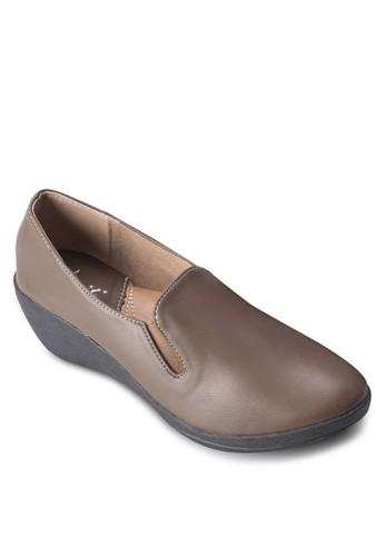 zalora開箱楔型跟樂福鞋, 女鞋, 楔形鞋