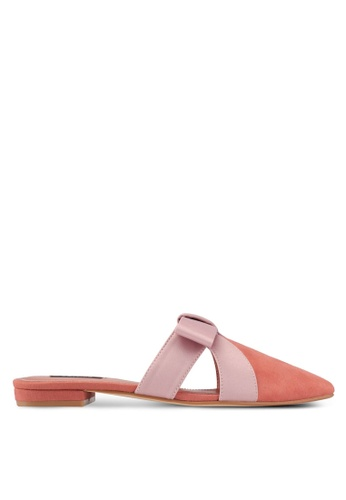ZALORA pink Bow Slip on Flats 11284SH0E81908GS_1