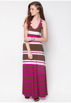 Summer Stripped Long Maxi Dress