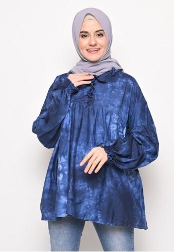 My Daily Hijab navy Hosan Tye Dye Shirt 9E385AA4D54698GS_1
