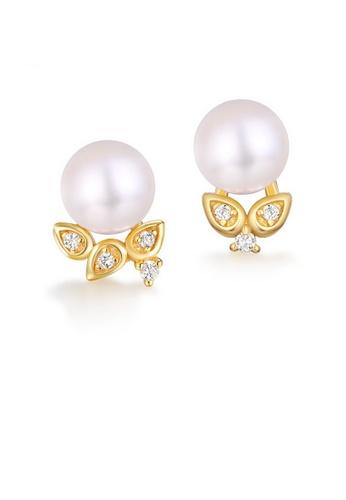 SUNSET 金色 Premium S925 Sliver Pearl Earring BE257AC0DDADB5GS_1