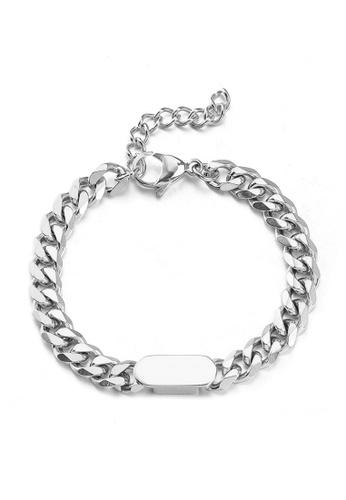 HAPPY FRIDAYS Round Card Spliced Titanium Steel Bracelet DWS0844 1DDA0AC842FAD4GS_1