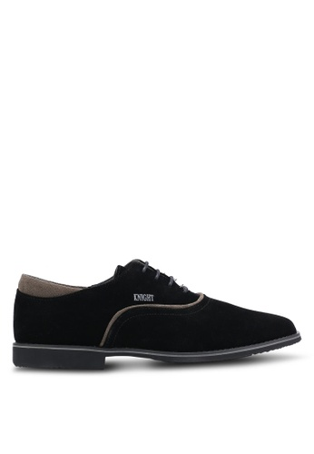 Knight black Lace Up Business Shoes KN875SH0RF8ZMY_1