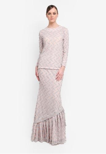 Kree for ZALORA pink Ramona Tiered Lace Kurung KR498AA0STG9MY_1