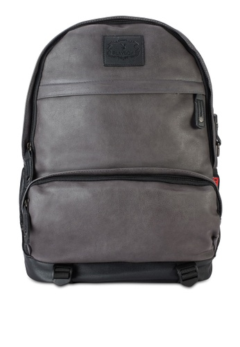 Playboy grey Playboy Backpack PL371AC75LRGMY_1