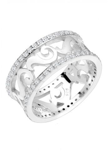 Elli Germany white Silver Cincin Ornament Bandring Zirconia Putih DEB2DAC16CEB06GS_1
