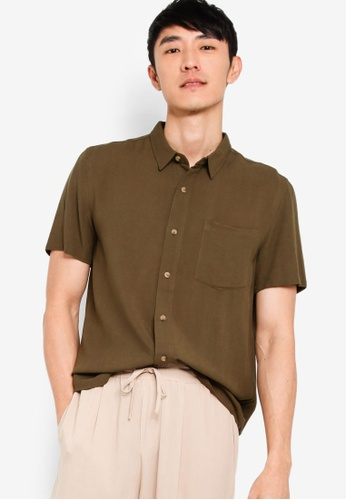 Basics Collared Short Sleeve Shirt