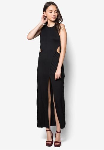 裹式無袖連身長裙, 服飾, 長zalora 台灣門市洋裝