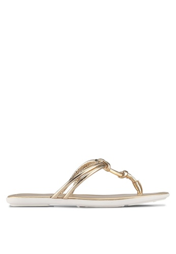 ALDO gold Kederravia Flat Sandals 5C341SHAA3479DGS_1