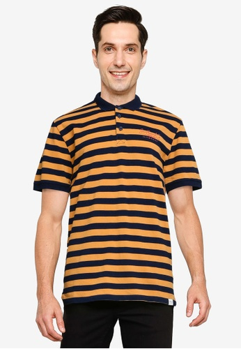 Only & Sons orange Even Life Polo Shirt D1E04AA2069C68GS_1