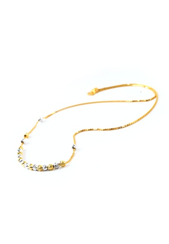 TOMEI gold TOMEI Necklace of Sphericals with Blithesome Brio, Yellow Gold 916 (NN1112-A-2C) ±67.5cm DE75FACA793D49GS_1