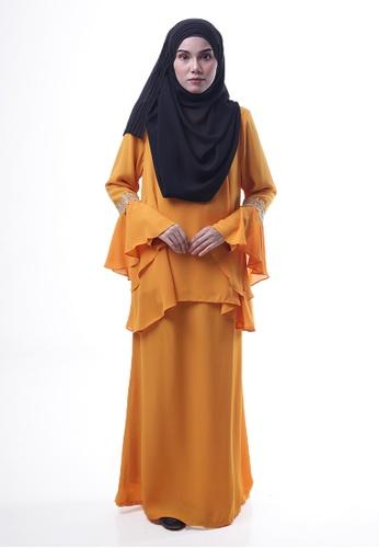Denai Boutique yellow Baju Kurung Esra D4799AA350A8C1GS_1