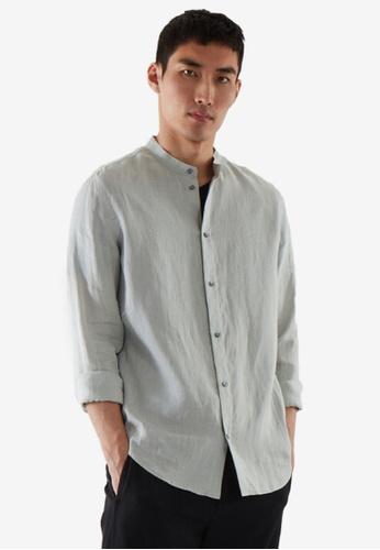 COS green Regular-Fit Hemp Shirt 40E61AAF714F22GS_1