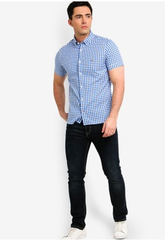 67fb86550d6e Tommy Hilfiger WCC SLIM DOBBY CHECK S S SHIRT RM 549.00. Sizes S M L XL XXL