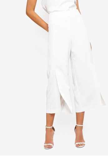 ZALORA white Semi Formal Culottes With Slits 542D6AA4512D39GS_1