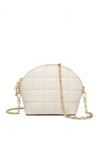 Twenty Eight Shoes white VANSA Fashion Lingge Chain Crossbody Bag VBW-Cb4028 157C2ACC465D45GS_1