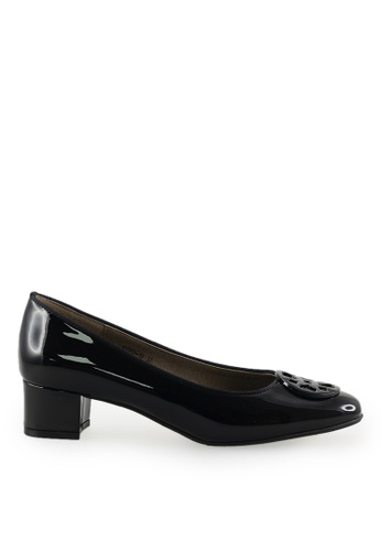Footspot black FOOTSPOT - Square Toe Block Heel Shoes With Buckle FD96ESHE44B140GS_1