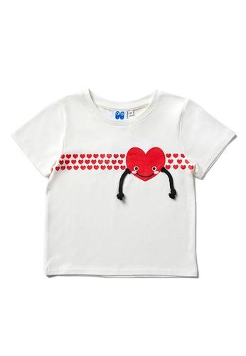 Vauva beige Vauva Hauska Kids 3D Little Heart Tee - Beige 1C5BFKA11D59D5GS_1