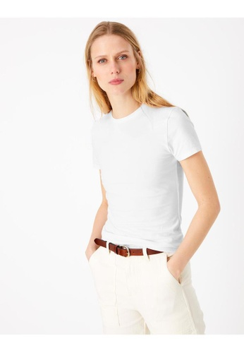 MARKS & SPENCER white M&S Cotton Fitted T-Shirt 402D2AA1E882EAGS_1