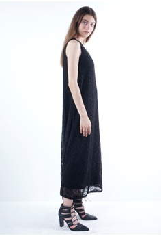 b043b40e1b3 NE Double S Lace Fabric Round Neckline Sleeveless Maxi Dress With Long  Necklace RM 169.00. Sizes S M L XL