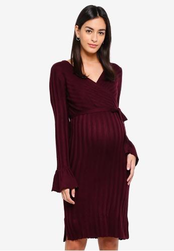 Mama.licious purple Zanne Tess Knit Dress 6B128AA02556D2GS_1