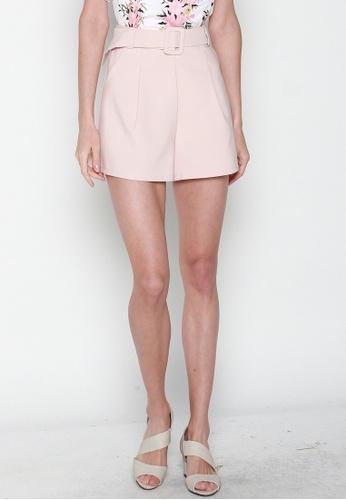 JOVET pink High Waist Shorts DB4F1AA89F1BE9GS_1