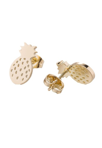 Kings Collection gold Sweet Pineapple Earrings (KJEA20055) D0859ACCF74D73GS_1