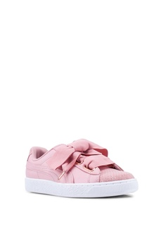 d02a8c0e0b55 15% OFF Puma Basket Heart Woven Rose Women s Sneakers RM 375.00 NOW RM  318.90 Available in several sizes