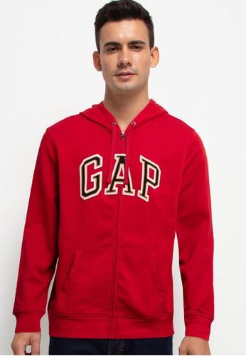 Gap red Arch Zipped Hoodie 9C81DAAB594830GS_1