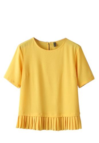 Sunnydaysweety yellow Collectibles New Simple Yellow T Shirt C041310 SU219AA05JVASG_1