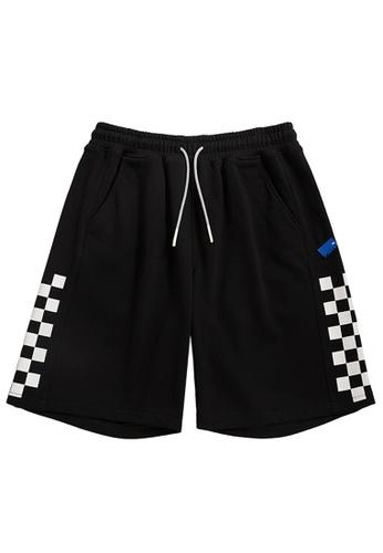 Twenty Eight Shoes black Reflective Plaid Printed Shorts 3656S21 112A7AA6810C37GS_1